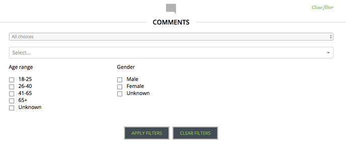 Comments Filter
